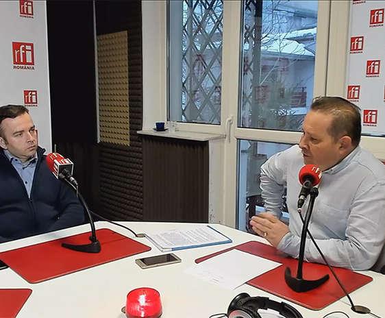 Florin Constantin şi Cătălin Lenta in studioul RFI