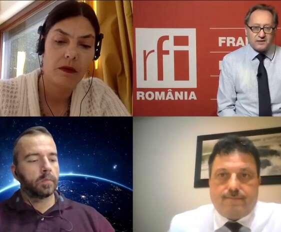 Jurnalistii Mihaela Gherghisan si Constantin Rudnitchi alaturi de invitatii emisiunii Rural.
